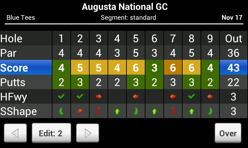 Skydroid - Golf GPS Scorecard- screenshot
