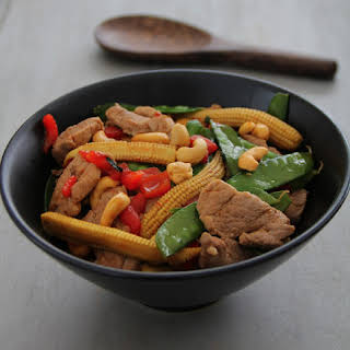 Pork and Cashews Stirfry.