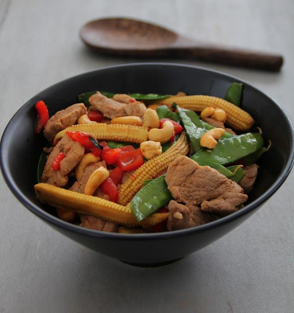 Pork and Cashews Stirfry Recipe