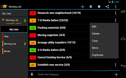 Moving Planner - screenshot thumbnail