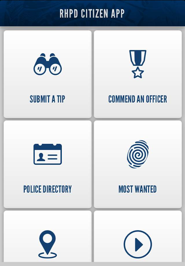 RHPD Citizen App- screenshot