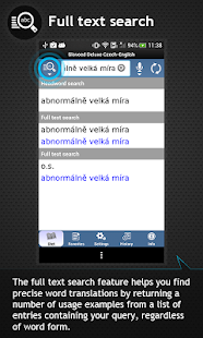Czech<->English dictionary - screenshot thumbnail
