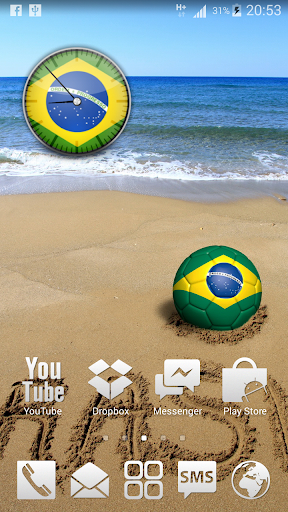 Brasil Analog HD Clock Widget