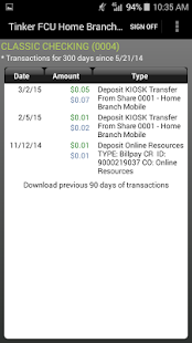 TFCU Home Branch Mobile- screenshot thumbnail