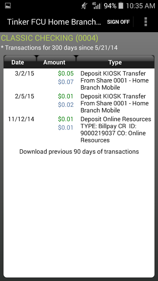 TFCU Home Branch Mobile- screenshot