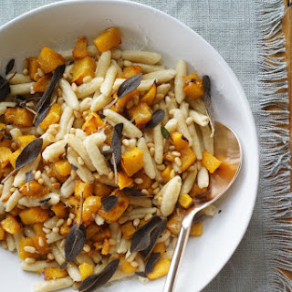 Brown Butter Pumpkin Pasta with Fried Sage & Manchego