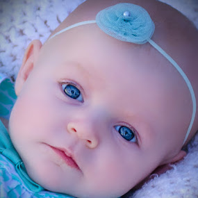 Blue eyes by Felicia Andes - Babies & Children Babies ( baby face, baby girl, baby, baby shoot, baby photography )