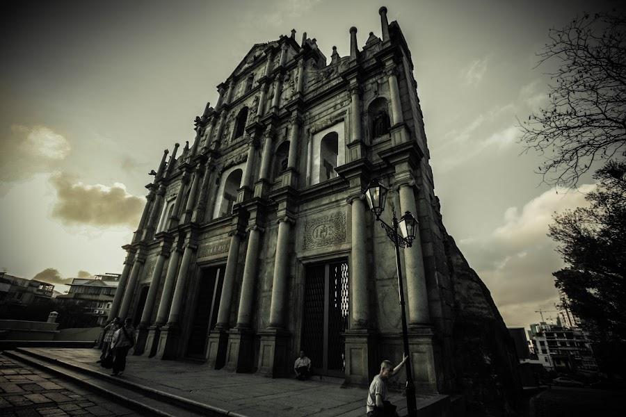 Ruinas de S. Paulo by Ken Leung - Buildings & Architecture Statues & Monuments ( street, ruinas de s. paulo, macau, architecture, travel, landscape, people )