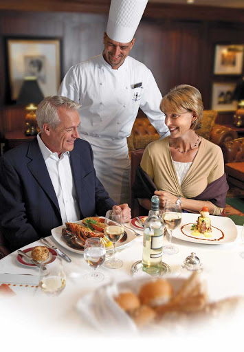 Oceania-Polo-Grill-4 - You'll enjoy an intimate dining experience in the Polo Grill restaurant on Oceania Insignia.