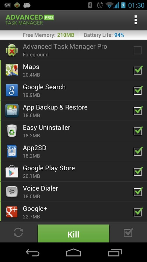 Advanced Task Manager Pro- screenshot