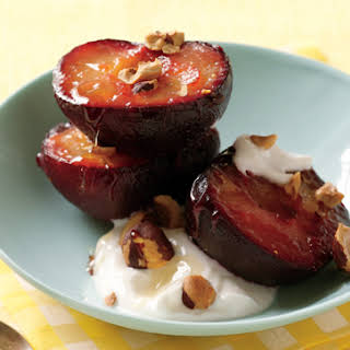Roasted Plums with Greek Yogurt.
