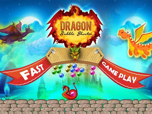 恐竜のバブルのシューティングゲーム