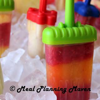 Homemade Frozen Fruit Juice Pops.
