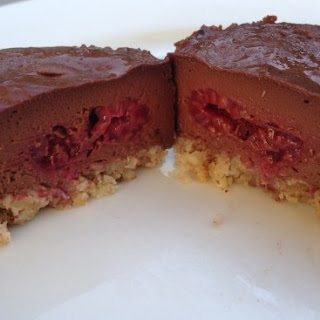 Little Dark Chocolate And Raspberry Cheesecakes