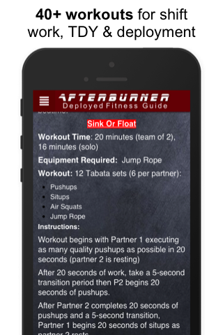 AFTERBURNER MILITARY FITNESS