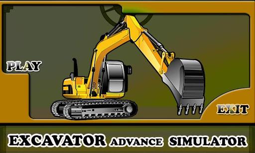 Excavator Advance Simulator