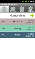 Screenshot of ShiftCalendar Plus