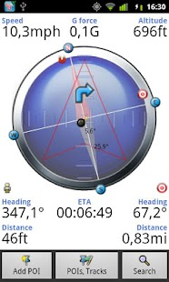 Tracky GPS navigation +compass - screenshot thumbnail