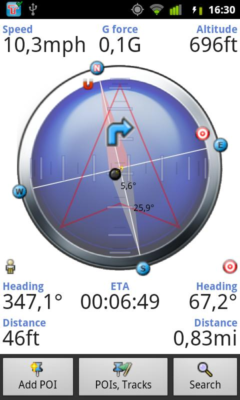 Tracky GPS navigation +compass - screenshot