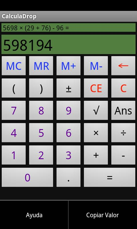 CalculaDrop- screenshot