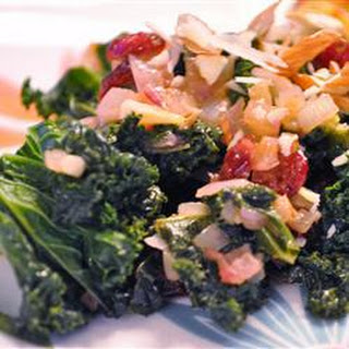 Kale with Cranberries and Almonds Recipe