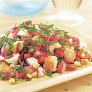 Lobster Salad with Summer Vegetables.