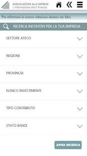 Agevolazioni alle imprese - screenshot thumbnail