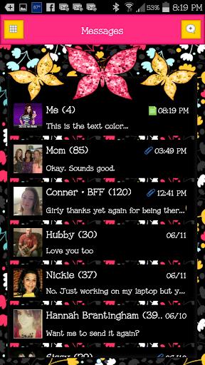 GO SMS - Butterflies 10