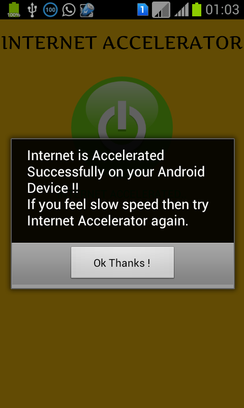Internet Accelerator- screenshot