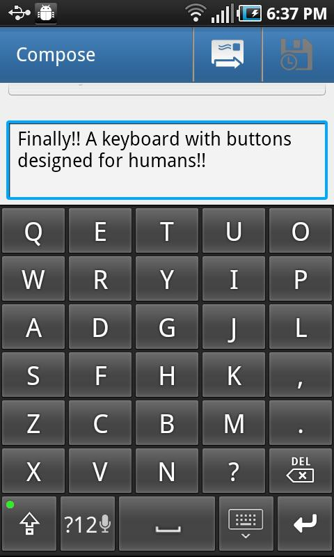 Big Buttons Keyboard Deluxe- screenshot