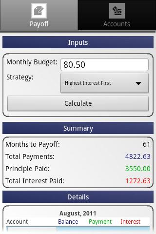 Credit Card Payoff Calculator - Android Apps On Google Play