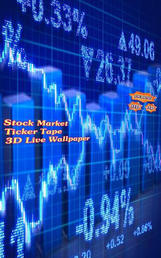 Stock Market Ticker Tape 3D