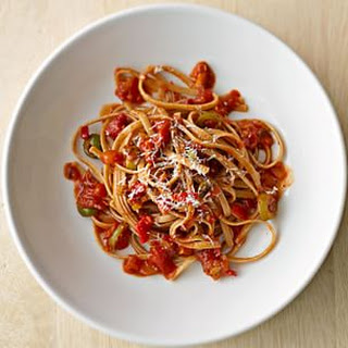Pasta with Calabrian Chili and Castelvetrano Olive Sauce
