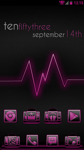 Serenity Launcher Theme Pink