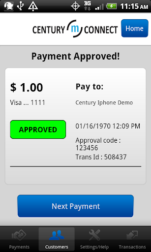 CenturyConnect Mobile Payments for PC