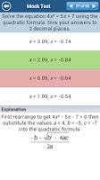 Screenshot of GCSE Maths Algebra Revision LE