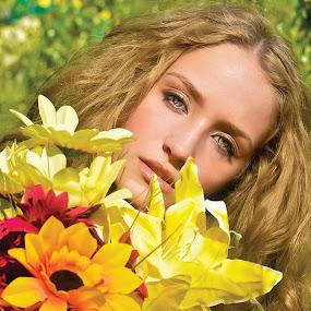 Jenna by Tina Marie - People Portraits of Women ( model, modeling, summer, beauty, flowers, portrait )