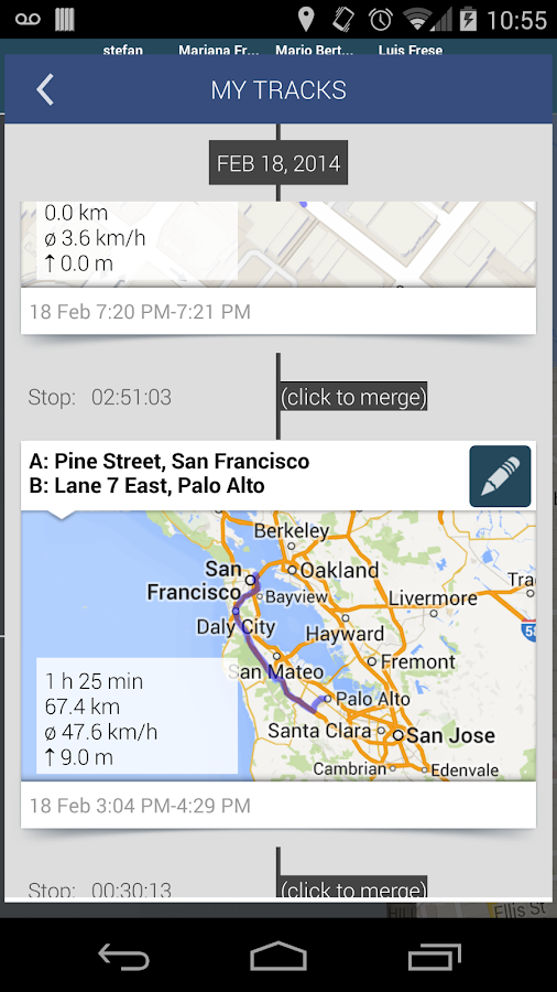 Hellotracks - Live GPS Tracker - screenshot