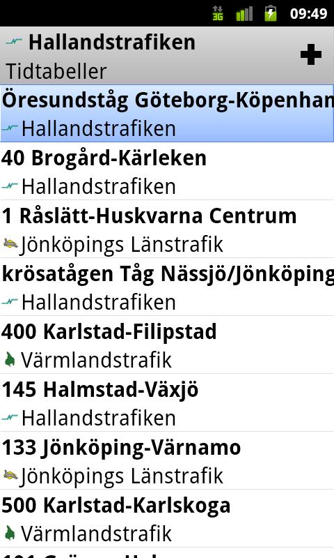Hallandstrafiken - screenshot