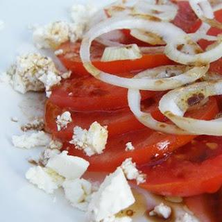 Tomato & Onion Salad with Feta Recipe