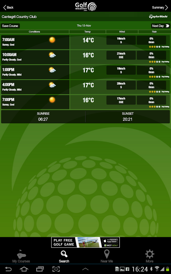 Golf Weather- screenshot