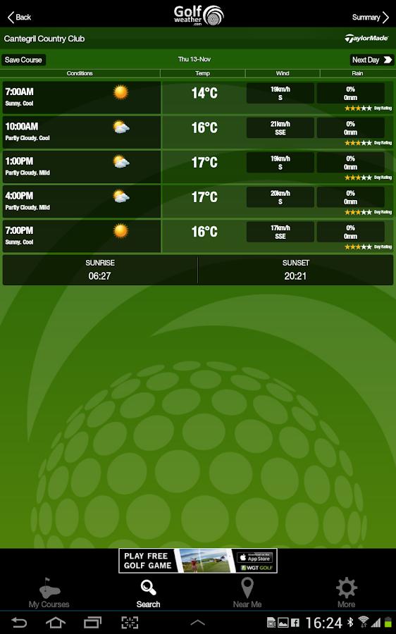 Golf Weather - screenshot