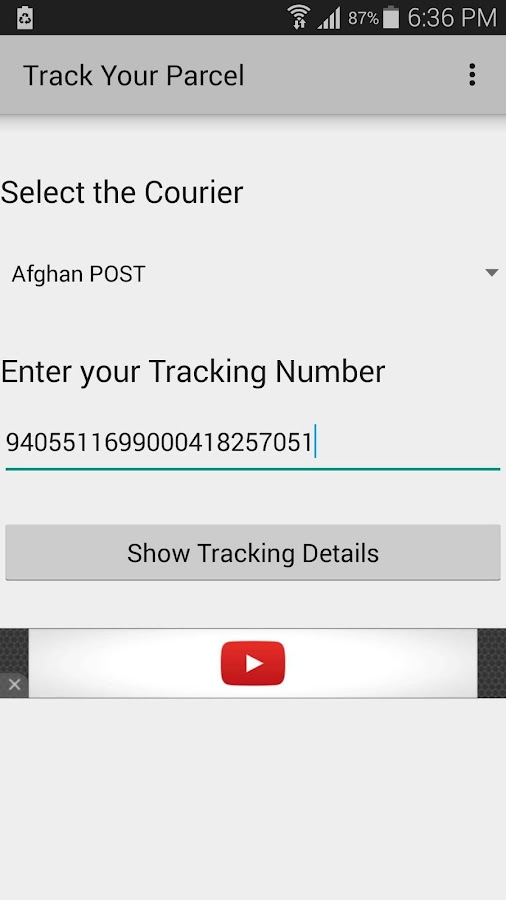 Track Your Parcel- screenshot