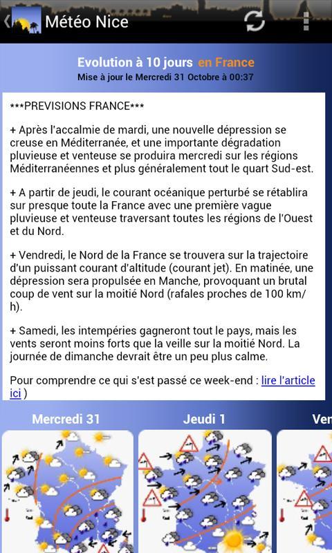 Météo Nice- screenshot