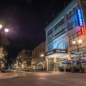 Live at the Queen by Andrew Hale - City,  Street & Park  Night ( street, theater, night, historic, live )