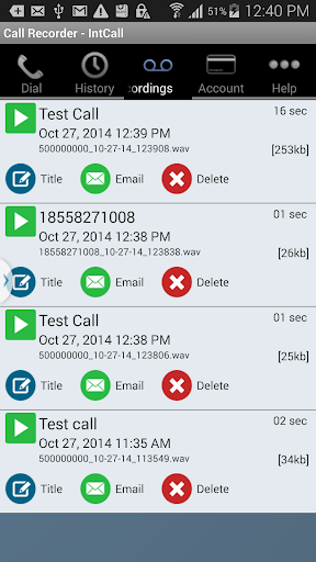 Download: Call Recorder - IntCall Unlimited MOD - Android Storage