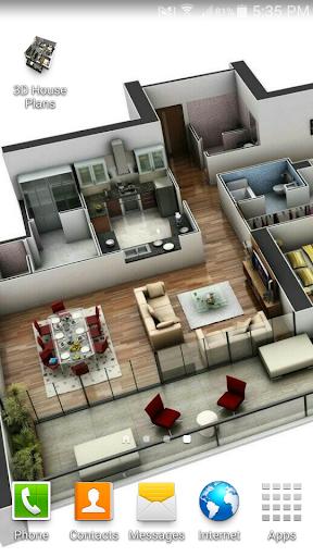 3D Apartment-House Plans