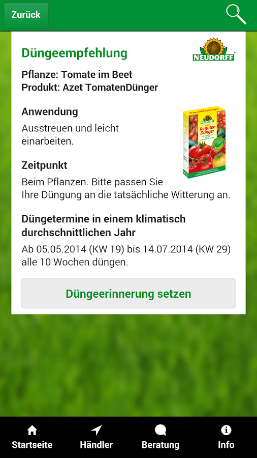 Dünge-Berater- screenshot
