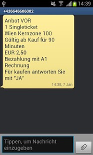 SMS Ticket Wien - screenshot thumbnail