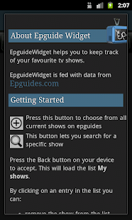 EpguideWidget- screenshot thumbnail